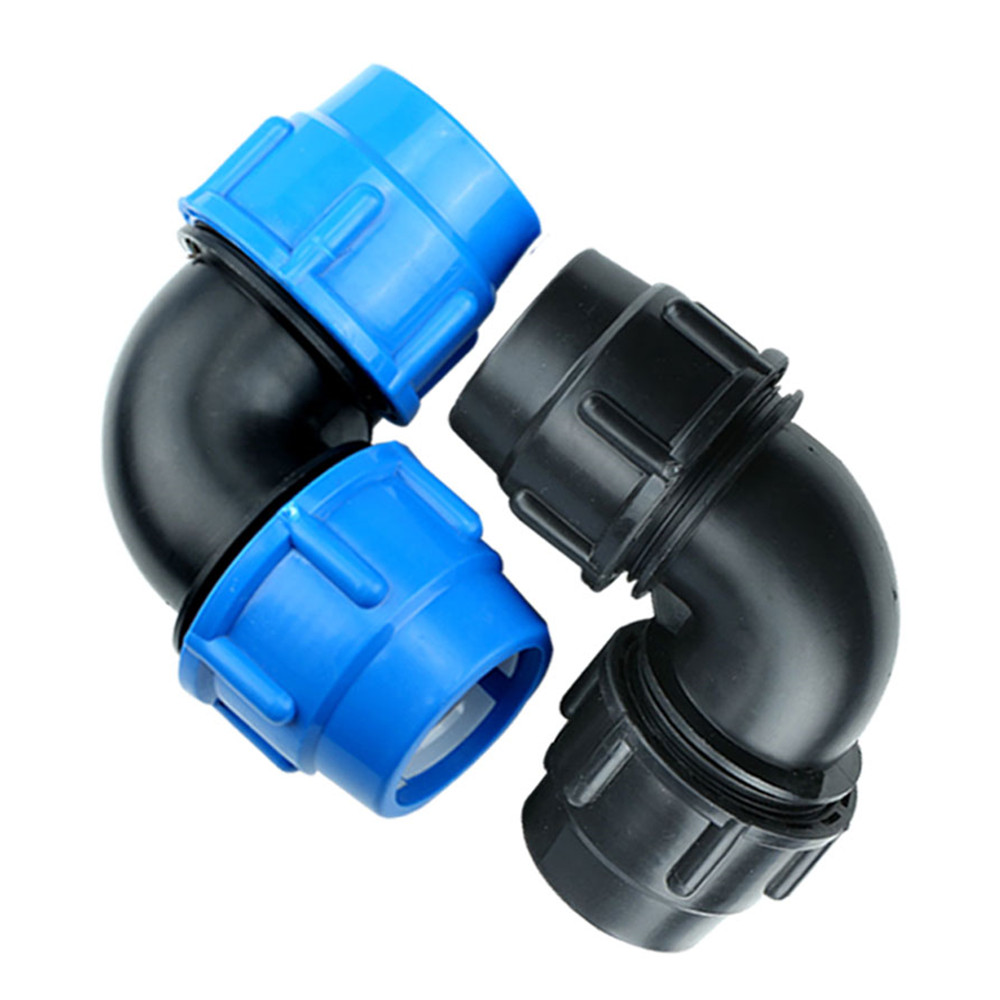 Fast Joint Elbow Plastic PE Pipe Fittings Blue Cap Fast Joint 16mm 20mm 25mm 32mm 40mm 50mm 63mm
