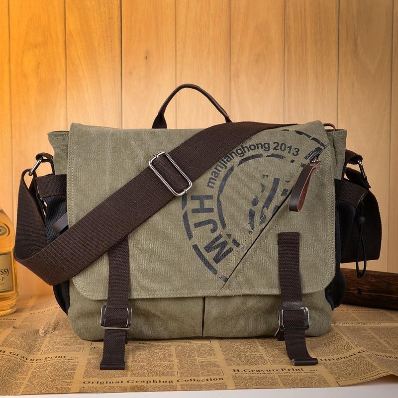 Man Canvas Messenger Bags Duffle Tote Travel Shoulder Bag High Quality Tote Bolsa Crossbody Bags Zipper Travel Leisure Handbag Men Men's Bags cb5feb1b7314637725a2e7: Coffee|Army green|gray|Khaki