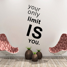 Pretty limit is you Phrase Home Decoration Accessories Vinyl Mural For Children House Art Decals Bedroom Wall Stickers