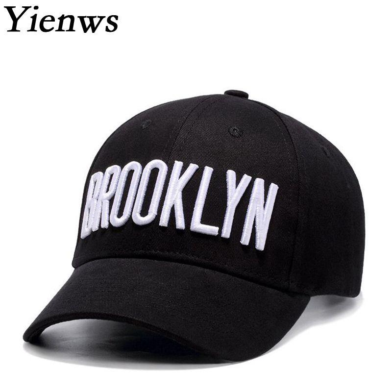 Yienws Brooklyn Cap hombres mujeres negro completo del sombrero de hip hop  verano juventud huesos gorras planas SnapBack YIC465 en Gorras de béisbol  de ... 132d271bcfb