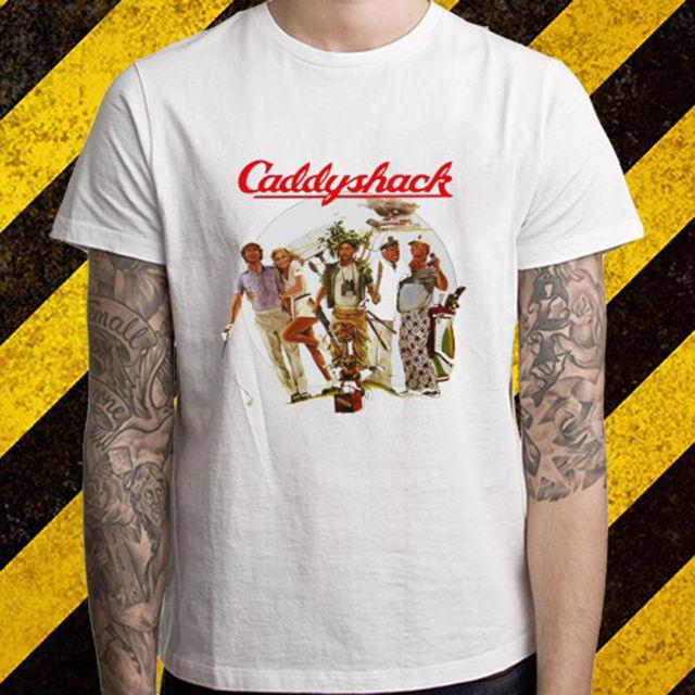 e86a395ce99b Neue Caddyshack Golferer Caddy 80er Film männer Weiß T-Shirt Größe S Bis  2XL Sommer