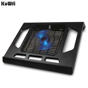 Image 3 - Podstawka chłodząca do laptopa Tablet PC Notebook poniżej 15 Cal podkładka chłodząca chłodzenie laptopa z pojedynczym wentylatorem 2 niebieska dioda LED Ergonoimice Design