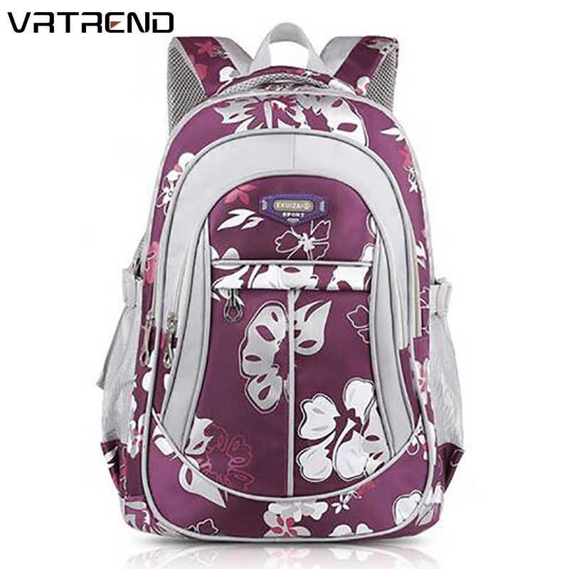 25169fd28e0a VRTREND Рюкзаки для девочек младшего дети Сумки Высокогго качества Большой  Размеры Школьные сумки для детей девочек