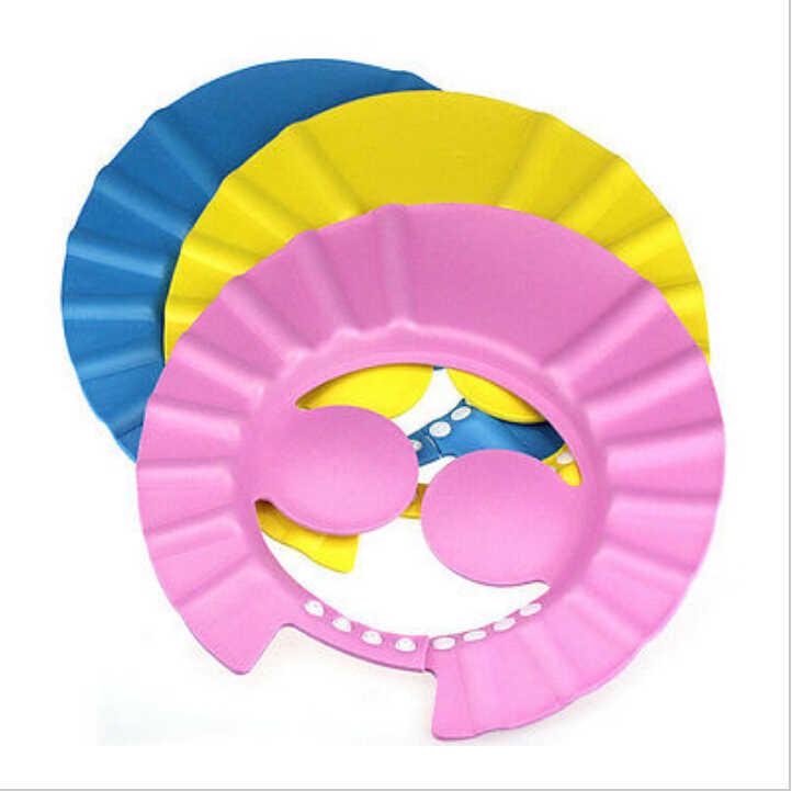 2018 ブランドソフト調整可能な水を防止耳シャンプーキャップベビー子供子供シャンプーバスウォッシュ髪シールドシャワー帽子防水