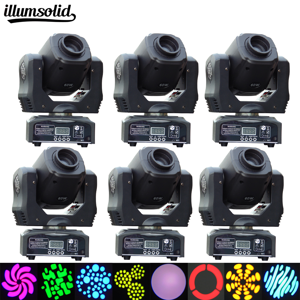 (6pcs/lot)led moving head 60w 11Channels Moving Head Led stage Lighting For Wedding Christmas Birthday DJ Disco KTV Bar Event hifi colorful ball led lighting wireless bluetooth 4 0 speaker with 3 5mm line in for christmas ktv disco bar
