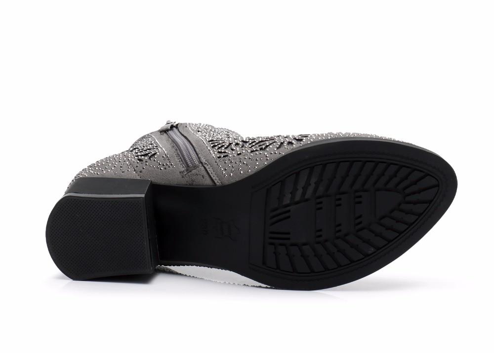 À ever Chaussures Noir Femme Hauts Zapatos Yd Talons Cristal Bottes Bottines gris Femmes D'été out Creux Carré Maille Ow8kNPn0XZ