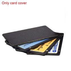 1 PC раздвижные вентилятор угольный волоконный кошелек денежных держатель для карт Бизнес бумажник с протекторами для банковских карт