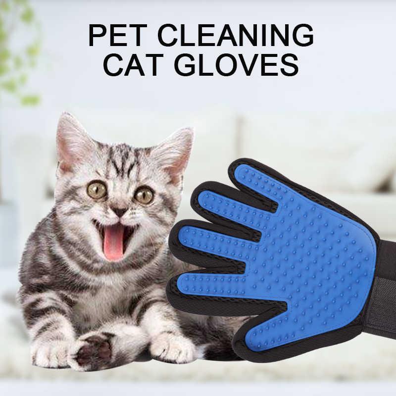 Pet chat gant pour Animal peigne chat toilettage approvisionnement gant de nettoyage desheding main droite épilation brosse doigt tactile gant