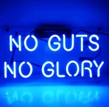 Custom NO GUTS NO GLORY Neon Light Sign Beer Bar