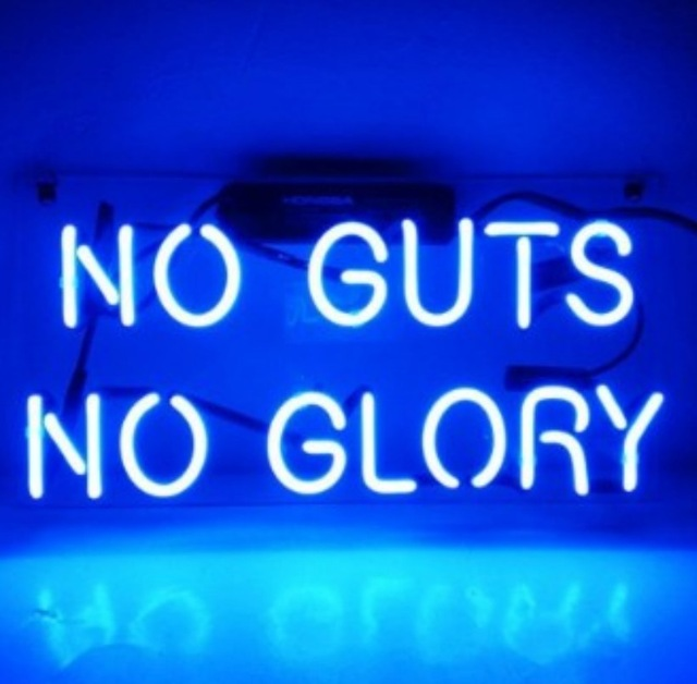 Custom NO GUTS NO GLORY Neon Light Sign Beer Bar
