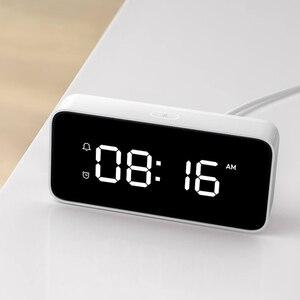 Image 3 - Original Xiaomi Xiaoai Smart Alarm Clock Voice Broadcast Clock ABS Table Dersktop Clocks AutomaticTime Calibration Mi Home App