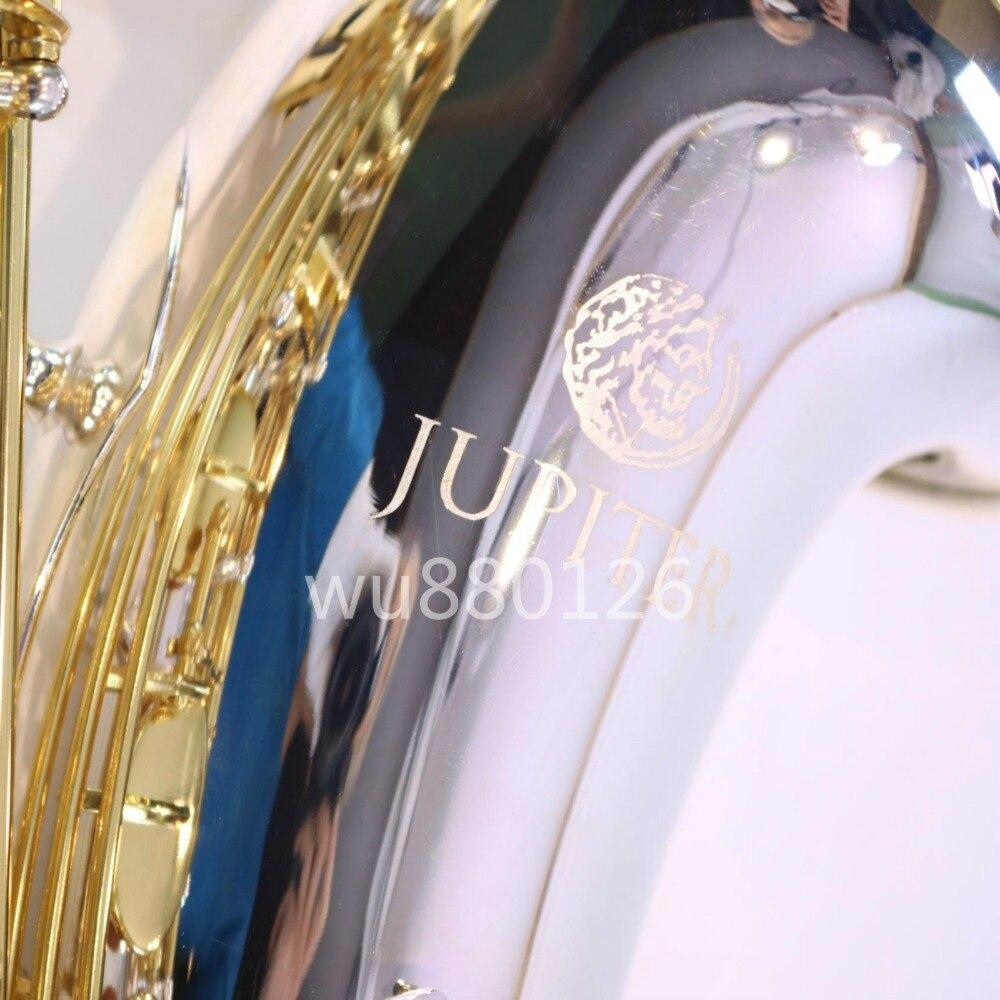 Jupiter JTS-1100SG Saxophone ténor Bb en laiton plaqué argent corps laqué or clé saxo B Instrument de musique plat avec étui en toile