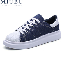 MIUBU Brand Summer Men Casual Canvas Shoes High Quality Men Flats Shoes Breathable Fashion Zapatos Hombre Lace-Up Footwear цена