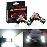 2 sztuk 1200Lm H11 H8 LED światła samochodowe LED żarówki 9005 HB3 9006 HB4 białe światła do jazdy dziennej DRL światła przeciwmgielne 6000K 12V lampa do jazdy