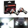 2 stücke 1200Lm H11 H8 LED Auto Lichter Led-lampen 9005 HB3 9006 HB4 Weiß Tagfahrlicht DRL Nebel licht 6000K 12V Fahren Lampe