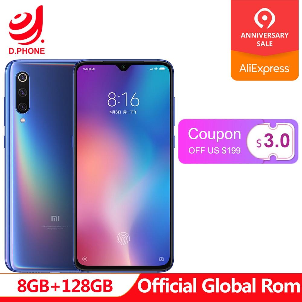Global oficial Rom Xiao mi mi mi 9 8 GB de RAM 128 GB ROM 9 Telefone Snapdragon 855 Núcleo octa 6.39