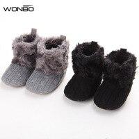 Wonbo Baby Schuhe Säuglinge Häkelarbeitknit Fleece Stiefel Kleinkind Mädchen Jungen Wolle Schneeschuh Krippe Schuhe Winter Booties