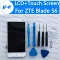 For ZTE Blade S6 LCD Display Screen + Touch Screen Glass Assembly Replacement For ZTE S6 1280x720 HD 5.0inch Free Shipping