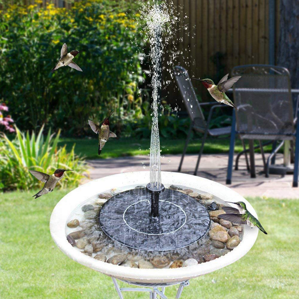 Upgraded Solar Fountain Pump With Battery Backup Solar Panel Kit Bird Bath Water Fountain Pump For Pool Garden Pond Decoration