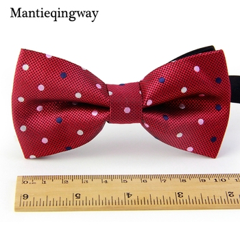 Mantieqingway Men's Polyester Bow Ties for Men Brand Classic Polka Dot Bow Tie Leisure Business Shirts Bowknot Gravatas Cravats