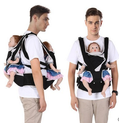 Twin waist strap with multi function bench front holding type baby sling back waist stool baby backpack belt