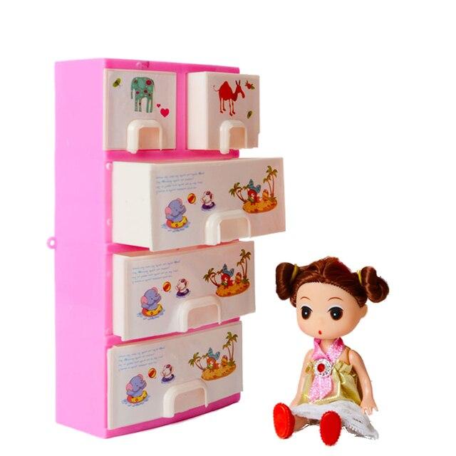 nieuwe printing closet garderobe voor barbie pop meisjes speelgoed prinses slaapkamer meubels