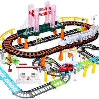 80pcs Electric Train Mini Car Track Toys Luminous Music Multiplayer Puzzle Educational Gift Model Slots Toy