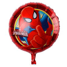 Spiderman Latex Polka Dots Spider man helium foil balloons party decor