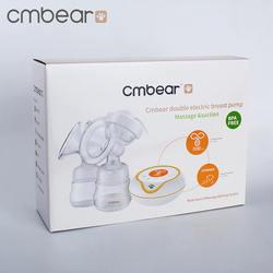 CMbear двойной Электрический молокоотсос с бутылкой BPA Free 9 передач Регулируемый массажный молокоотсос мощный всасывающий сосок для мамы