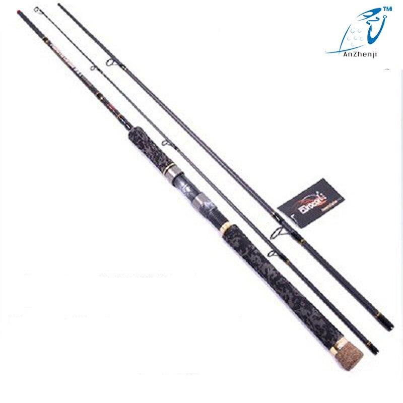 Anzhenji Castiing Fishing Lure Rod MH 98% High Carbon Vara De Pesca Gun Handle Metal Rings 2.4m 2.7m 3m 3.3m 3.6m Speargun цена 2017