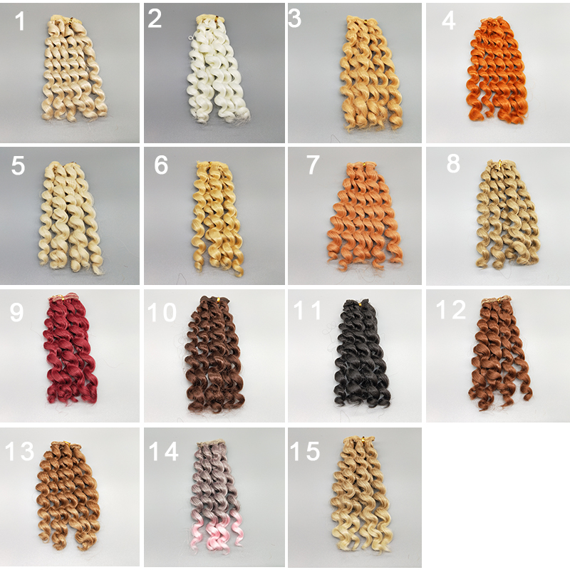 1PCS/LOT Retail Dolls Accessories Synthetic Fiber Wigs Curls Blond/Brown DIY BJD Wig Hair Doll