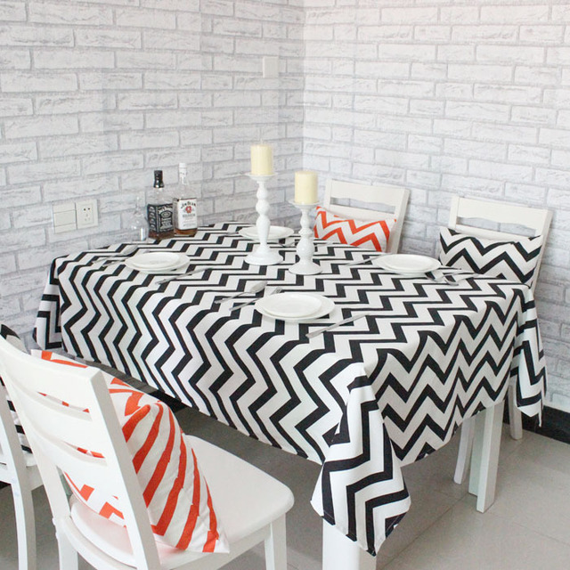 Wave Geometric Printing Cotton Table Tablecloths Simple And Stylish Coffee Table  Cloth Stripes