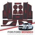 ZUNDUO слот для ворот для Ford Mondeo Fusion 2007-2018 MK4 MK5 2012 2015 2016 Нескользящие Коврики для межкомнатной двери автомобильные подстаканники
