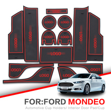 ZUNDUO Porta slot pad Per Ford Mondeo Fusion 2007-2018 MK4 MK5 2012 2015 2016 tappetini antiscivolo porta per interni Pad Auto Supporti di Tazza