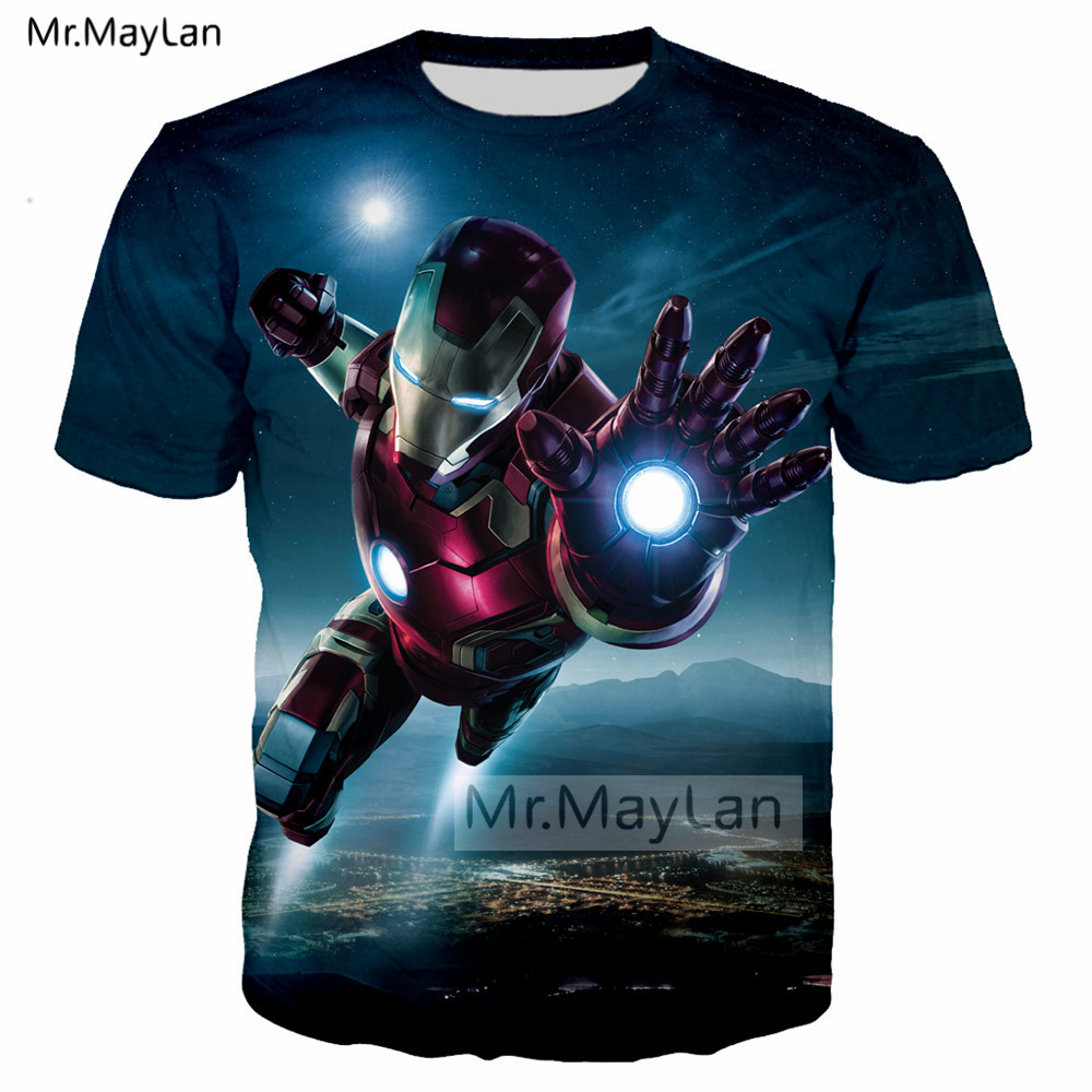 Movie Iron Man <font><b>Tony</b></font> <font><b>Stark</b></font> 3D Print Tshirt Men/<font><b>women</b></font> Hip Hop Streetwear <font><b>T</b></font>-<font><b>shirt</b></font> Boy Hipster <font><b>T</b></font> <font><b>shirt</b></font> Man Clothes camiseta marvel image