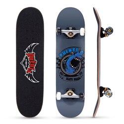 PUENTE 608 ABEC-9 Per Adulti A quattro Ruote di Skateboard Doppio Snubby Acero di Skateboard 5 Pollici In Lega di Alluminio Magnesio Camion