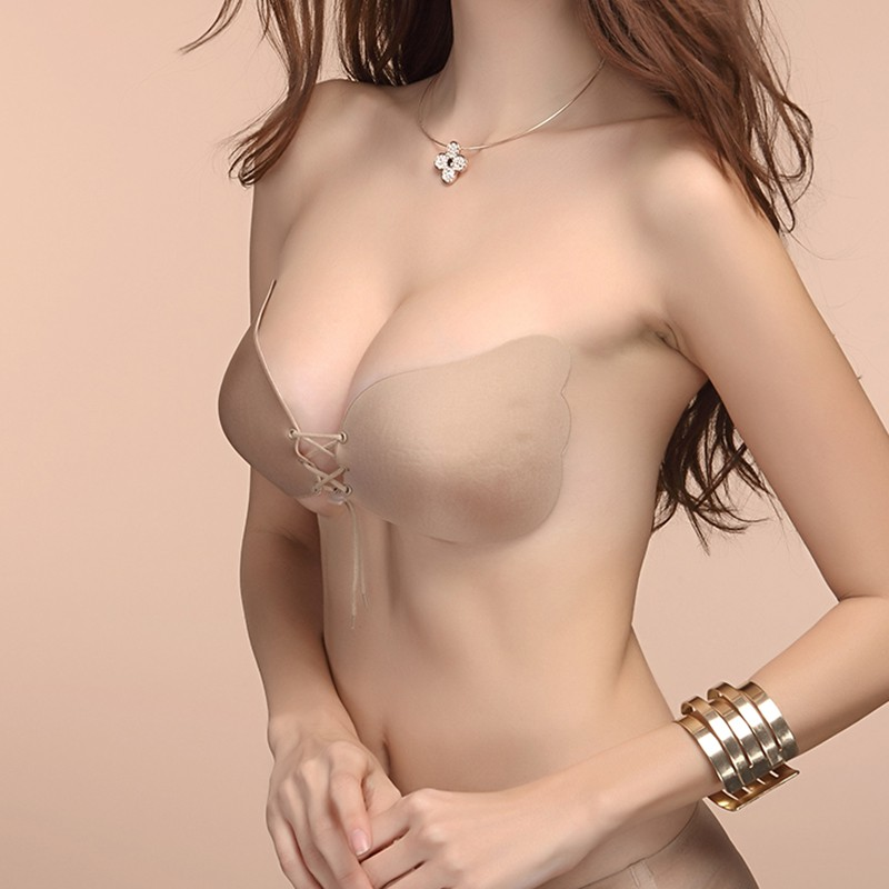 Hot Breathable Wing Invisible Bra Nude Self Adhesive Strapless Cup ABCD Lingerie Backless Stick on  Angel Underwear