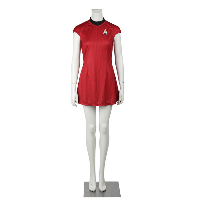 Star Trek Cosplay Costume Nyota Uhura Cosplay Clothing Women Sexy Red Dress Uniform for Halloween Christmas Party Custom Made