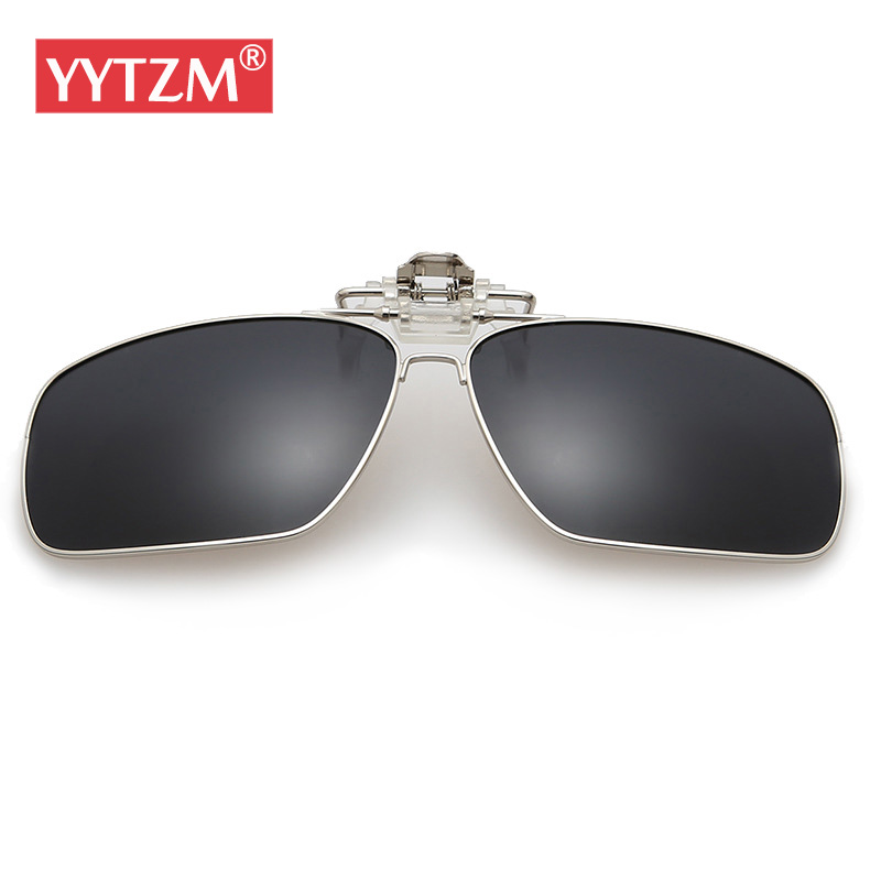 YYTZM Sunglasses wanita Perak Bingkai Terpolarisasi Klip Kacamata Hitam  Pria Miopia perempuan Kacamata Matahari Mengemudi Night 9a5c2d4360