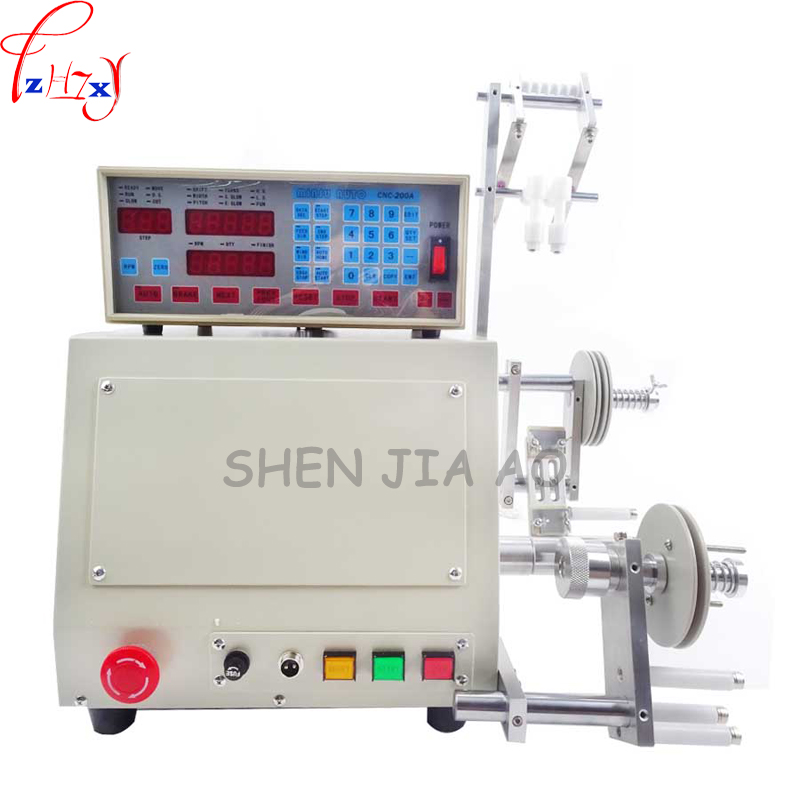 High quality New Computer CNC Automatic Coil Winder Coil Winding Machine Enamelled Copper Winding wire for 0.03-1.2mm wire 110V micro computer cnc automatic coil winding machine coil wire winder ds 200a