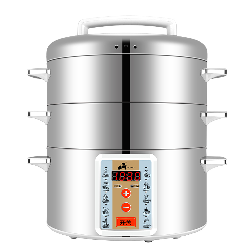 Stainless Steel Electric Vegetable Steamer ~ Wuxey multifunctional electric food steamer stainless