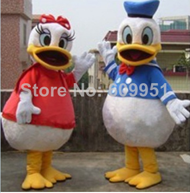 Donald couple Mascot Costume Blue Donald Duck Pink Daisy Carnival Costumes