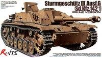 Tamiya #35197 Modelo Militar 1/35 SturmgeschutIII RealTS Ausf. G Escala Kit Modelo Passatempo