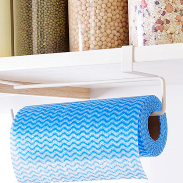 Kitchen Tissue Holder Hanging Bathroom Toilet Roll Paper Holder Rack Kitchen Cabinet Door Hook Holder