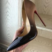 Лакированной насосы каблуки туфли люкс класса высокие дизайнер женщина обуви свадебные