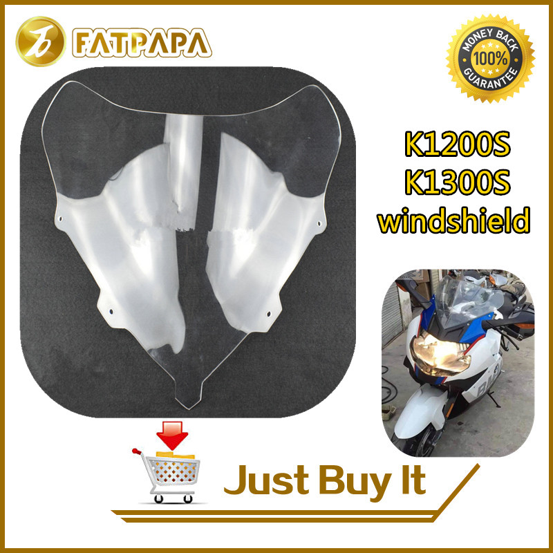 Free Shipping Motorcycle ABS Plastic Lens Front Windshield Fit For BMW K1200S / K1300S Windshield Shroud Лобовое стекло