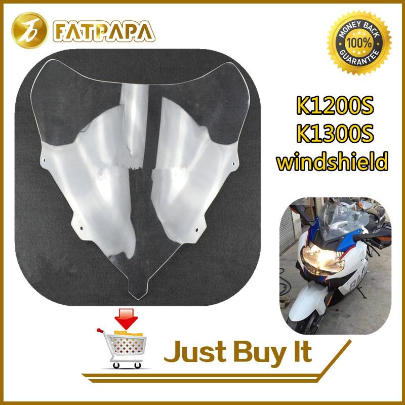 Бесплатная доставка мотоцикл ABS пластик передняя линза стекло, пригодный для BMW К1200Ѕ / K1300S пеленой лобовое стекло