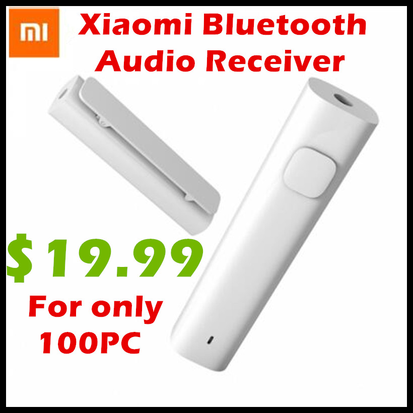 Original Xiaomi Bluetooth 4.2 Audio Receiver Wireless Adapter 3.5mm Jack AUX Audio Music Car Kit Speaker Headphone Hands Free