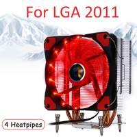 4 Heatpipe CPU Cooler for Intel LGA 2011/X79 12cm Fan Cooling CPU RGB Fan Cooling Cooler PC Quiet Radiator Heatsink Red