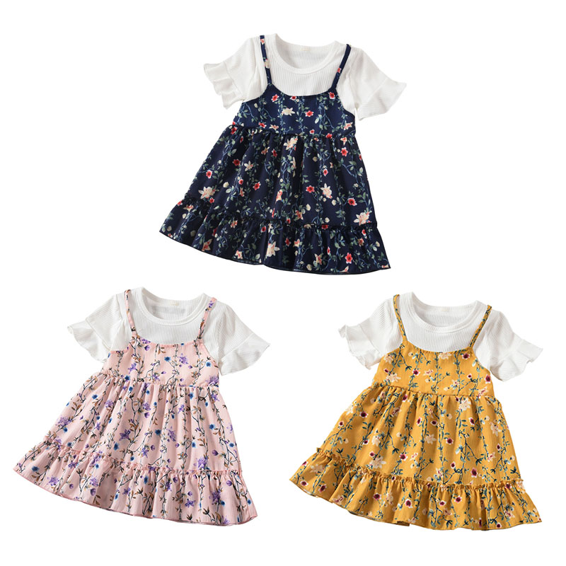 Baby Kids Girl Sling Dresses Summer Clothes Toddler Girls Dress Baby Cotton Sleeveless Print Flower Princess DressBaby Kids Girl Sling Dresses Summer Clothes Toddler Girls Dress Baby Cotton Sleeveless Print Flower Princess Dress